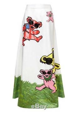 $1298 Alice + Olivia Grateful Dead Bears Ball Gown Dress Maxi Long Skirt 6 8 10