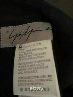 1990s Vintage Yohji Yamamoto Black Silk Skirt 90s avant garde