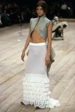 1999 Alexander Mcqueen Runway Silk Ruffle Skirt! Glamorous