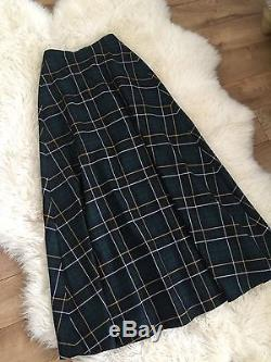 $228 JCrew Collection Maxi Skirt in Tartan F8840 2 Green Blue SOLD-OUT
