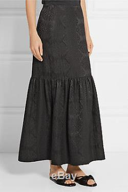 $2590 Authentic Rare THE ROW Women's Rinnah Wool-Blend Cloqué Maxi Skirt