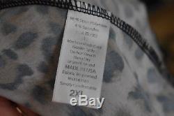 2XL Lularoe Maxi Black Blue Leopard Cheetah Animal Print Skirt Dress XXL EUC