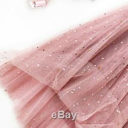3 Layers Lace Maxi Long Tulle Skirt Party Skirts Women's Adult Tutu Ball Gown #