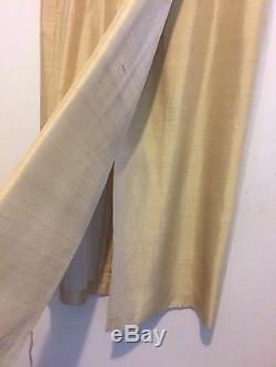 $395 Max Mara 14 Gold Silk Long Maxi Faux Wrap Skirt Asian Style Designer Italy