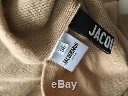 $420 Jacquemus High Side Slit La Jupe Peron Knit Folded Skirt Dress