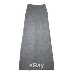 $480 ACNE Nico Milano Gray Wool Double Knit Maxi Skirt sz XS