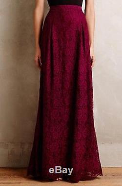 $488 Anthropologie Etta Lace Maxi Skirt By Nicole Miller Sz 6