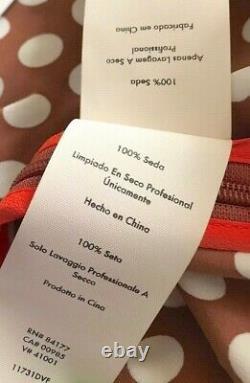 $498 Diane Von Furstenberg Baker Dot Sienna High Waisted Maxi Dress Skirt 6 8
