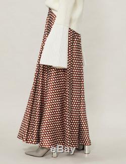 $540 Diane von Furstenberg Polka Dot Silk Maxi Skirt Size 2