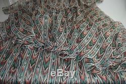 $795 NEW Caroline Constas MAXWEL Skirt Chiffon Lurex Blush Green SILK S M
