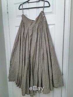 8 AllSaints Nightingale Full Maxi Skirt Stripe Blue Victorian Lagenlook Rundholz