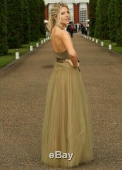 $8550 New RALPH LAUREN Layered Tulle Tabatha Maxi Skirt Long XS S Green