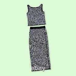 90s Escada Zebra Knit Set, Size Small, EU 34