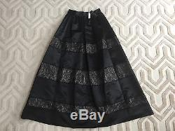 ALICE + OLIVIA Prima Black Lace Trimmed Ball Maxi Dress Skirt Size 4, $698 NWT