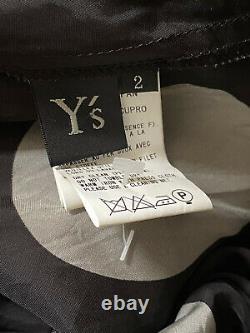 AMAZING Ys YOHJI YAMAMOTO BLACK MIDI MAXI SKIRT PATTERN SZ 2 UK10-14 £595 NEW