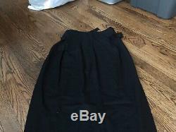 ANN DEMEULEMEESTER long slit detail skirt Black Size 42