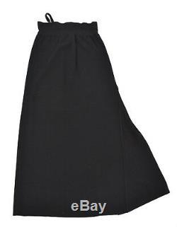 ANNETTE GORTZ Unusual Black Wool Long Maxi Designer Winter Skirt Sz L UK 12 40