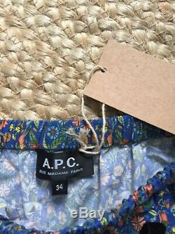APC Blue Liberty Print Floral CECIL Maxi Skirt Size 34 / XS BNWT RRP £270