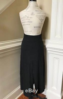 APIECE APART NY Skirt Womens 8 Medium Front Back Slit Linen LONG Maxi High Rise