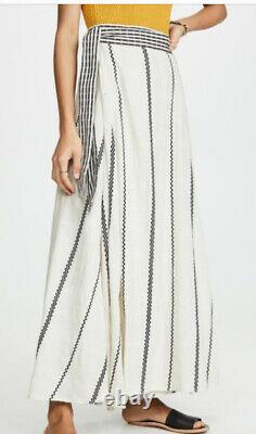 Ace And Jig Reversible Sangria Maxi Wrap Skirt Casablanca Bone/Black Nwt Size XS
