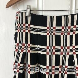 Ace & Jig NWT M Gala Skirt Black Geo Check Red Natural Cotton Maxi Pockets