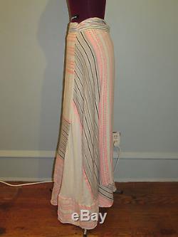 Ace & Jig Wrap Skirt Long Cotton Blend Tie Waist Pattern Sz Medium Nwot