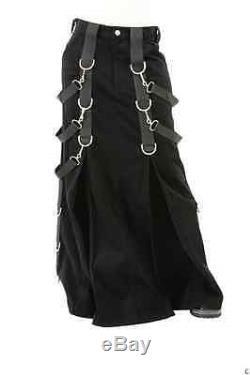 Aderlass Belted Bondage Skirt 1 Leg Pant Unisex Goth Industrial Punk Rave Cyber
