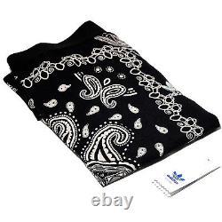 Adidas Elastic Stretchy Paisley Black White Long Casual Maxi Bandanna Boho Skirt