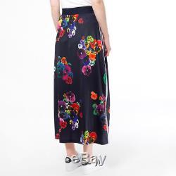 Adidas Originals Floral Maxi Skirt Rita Ora Dress Womens UK 8 12 Top AZ3242