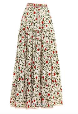 Agua by Agua Bendita Macadamia Hedera floral maxi skirt XS, NWT minor defect