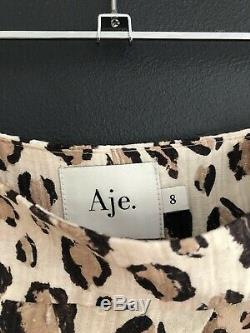 Aje Elvie Leopard Print Skirt Size 8 Brand New Sold Out Style RRP $395