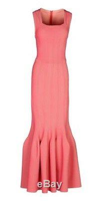 Alaia NWT Pink Long Maxi Dramatic Flared Full Skirt Dress ASO Celebs 40Fr