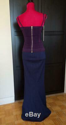 Alaia Vintage Runway Navy Maxi Seamed Long Skirt M ASO Celebs & In Editorials