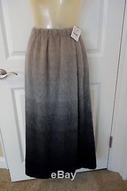 Alberta Ferretti Alpaca Maxi Long Skirt Gray NWT Size 40 / US 4 $1,485 retail