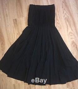 Alexander Mcqueen Pleated long Maxi black skirt UK 8 IT 4 Fr 36 Unique SAMPLE
