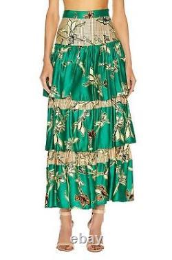 Alexis Honoka Tiered Maxi Skirt Jade Green Sz XS Sz S A40532F