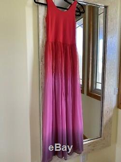 Alice + Olivia Hot Pink Long Maxi Skirt Sleeveless Fully Lined Dress