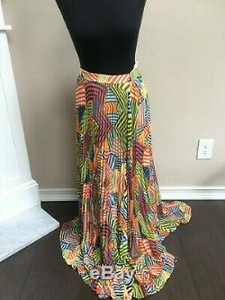 Alice + Olivia Long Multicolor Stripe Skirt Size 6