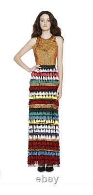 Alice + Olivia Merrill rainbow maxi skirt, size 0, retail $995.00