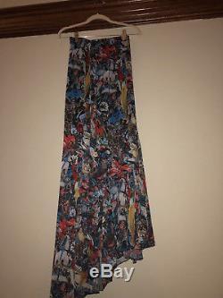 Alice + Olivia NWT $440 Floral Silk boho maxi skirt Sz 0 XS
