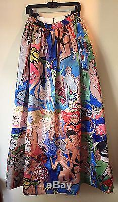 Alice + Olivia Tina Long Ball Gown Skirt, Sz 4, Domingo Zapata Special Edition