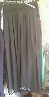 Alice and Olivia maxi skirt lot sample size small 2 4 while navy black lace nwt