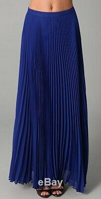 Alice + olivia Shannon Pleated Long Maxi Skirt