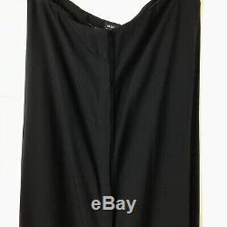 Ann Demeulemeester Maxi Skirt 40 Black Long Button Front Strapless Dress Womens