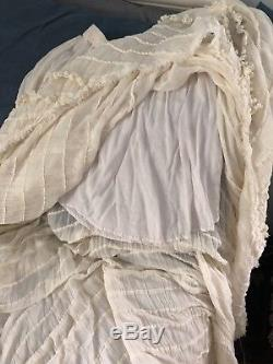 Anthropologie Free People flowy Maxi Skirt Boho Ruffles Asymmetrical Hem S/P XS