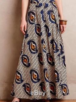 Anthropologie Maaike Maxi Skirt By Millie Collines Size 8 NWT Retails $198.00