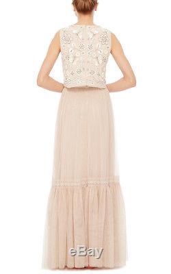 Anthropologie Needle & Thread Romella Tulle Maxi Skirt, Size 2