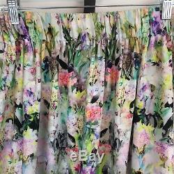 Anthropologie Ranna Gill Firefleur Maxi Skirt M Watercolor Floral Elastic Waist