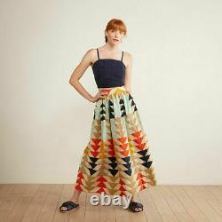 Anthropologie The Odells Gianna Abstract Maxi Skirt Size Small