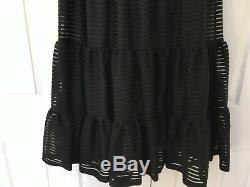 Anthropologie Tracy Reese Skirt Maxi Black Tiered Savannah Long Size Large NEW